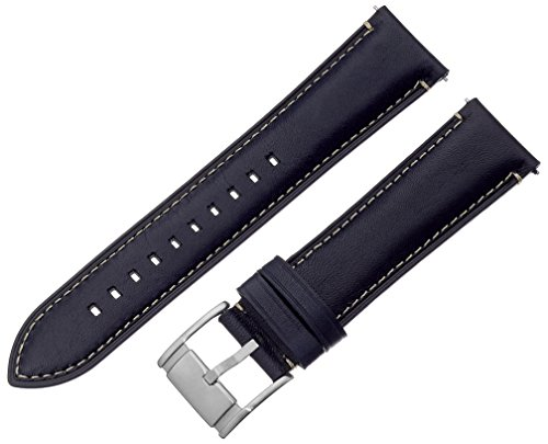 Fossil S221255 22mm Leather Calfskin Blue Watch Strap (Calfskin Band Watch)