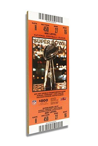 Winning Streak Super Bowl XLIV (44) Mini-Mega Ticket - New Orleans Saints
