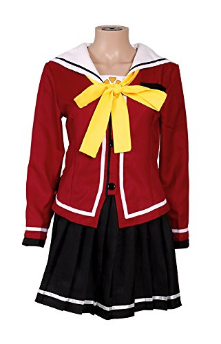 Nao Tomori Costume (Mtxc Women's Charlotte Cosplay Nao Tomori Female School Uniform Size X-Large Red)
