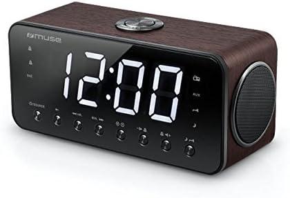 Muse M-192 DW - Radio (Reloj, Digital, FM, 87,5-108 MHz, Exploración automática, LED)