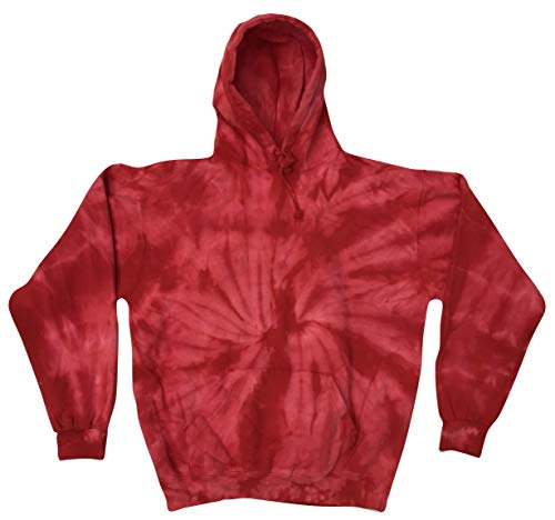 Colortone Tie Dye Hoodie XL Spider Red