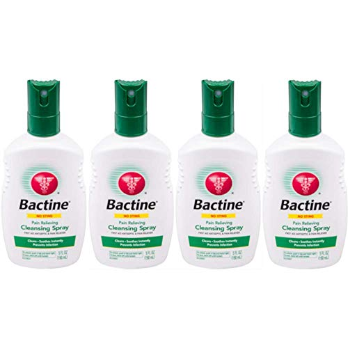 Aid First Original - Bactine Original First Aid Spray, 5-Ounce Bottles (Pack of 4)