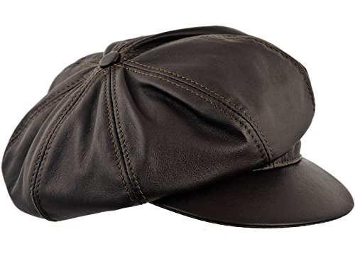 Sterkowski Cattle Leather Large Crown 8 Panel Newsboy Cap...