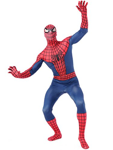 [Wraith of East Amazing Spiderman Adult Cosplay Costume Halloween Zentai S Red] (Spiderman Bodysuit)
