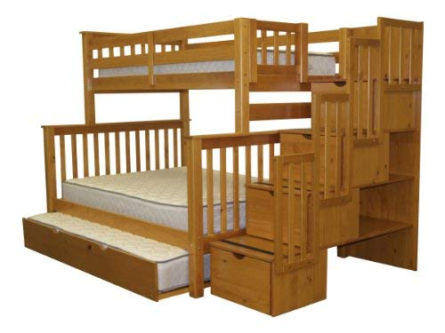 Bed Over Stair Box Google Search: Bedz King Stairway Bunk Beds Twin Over Full With 4 Drawers