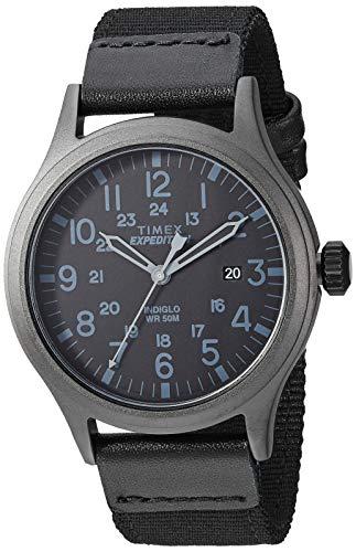Timex Men's TW4B04500 Expedition Scout Red Nylon Slip-Thru Strap Watch