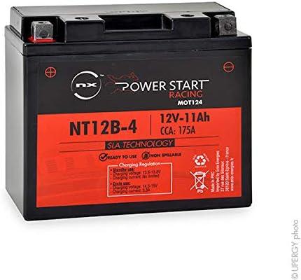 NX Batería de Moto YT12B-4 / YT12B-BS 12V 11Ah de Plomo AGM *SIN Mantenimiento*