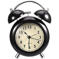 Analog Battery Operated Loud Alarm Clock (Black)