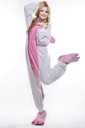 Unisex Adult Pajamas Cosplay Costume Animal Onesie Sleepwear Suit Cartoon Cute Unicorn (s)