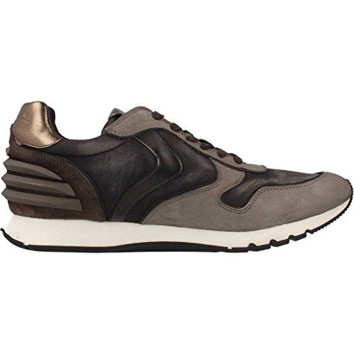 Mens Chaussures De Sport, La Marque Grise, Blanche Serge De Chaussures De Sport De Modèle Pour Les Hommes Gris Puissance Blanche Liam Voile