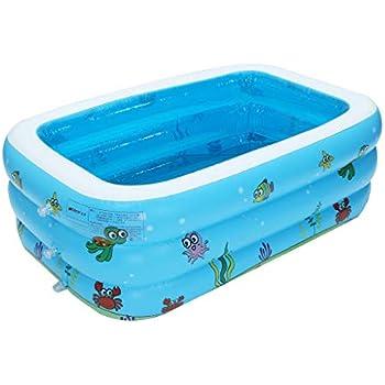 Amazon.com: Piscina hinchable para niños Sacow Baby Natación ...