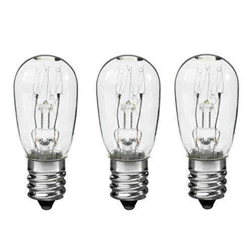 Dryer Light Bulb for Sears Kenmore 3406124, 22002263-10 Watt 120v - 3 Pack (Kenmore Dryer Light Bulb)