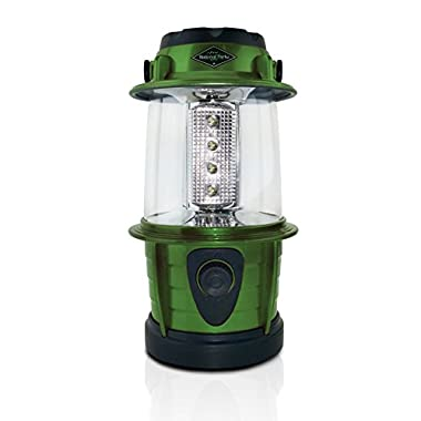 Adjustable 12 LED Lantern - Personal Outdoor Camping Lantern 360 Degrees Lighting - Use on a Table or Hanging (Green)