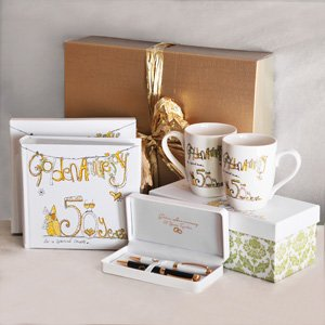 50th Golden Wedding Anniversary Gift Pack 4