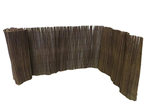 Master Garden Products Rolled Willow Border Fence, 2 by 14-Feet