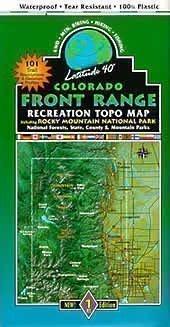 Colorado Front Range Mountain Bike Topo Map (Front Range Map)