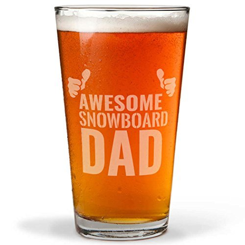 Snowboarding Awesome Snowboard Dad Engraved Beer Pint Wine Glasses for Women Laser Engraved Wine Cup Wine Gifts for Him