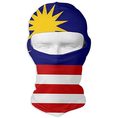 Huitong Shengshi Flag of Malaysia Unisex Outdoor Sunscreen Windproof Mask Neck Scarf Balaclava Headgear Hood Motorcycle Cycling Fishing Face Mask