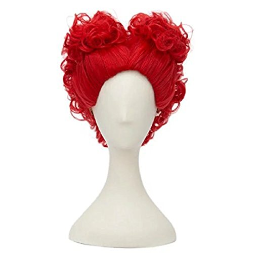 The Queen Wig - Short Curly Anime Lolita Red Heart Girls Theme Party Cosplay Wig+Cap