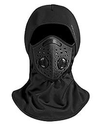 ROCKBROS Ski Mask Balaclava Motorcycle Cycling Thermal Fleece Windproof Black