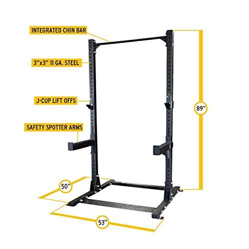 Body-Solid SPR500 Half Cage Rack by Body-Solid SPR500 Half Cage Rack (Image #3)