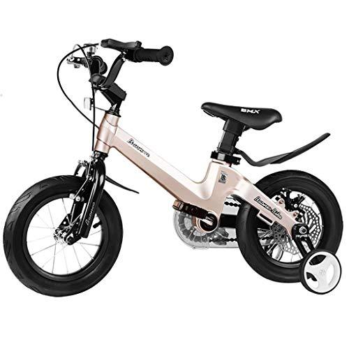 TOOSD bicycle Bicicleta para niños de aleación de magnesio 3-5-6-10-12 años de Edad Niño y niña Frenos de Doble Disco 14…