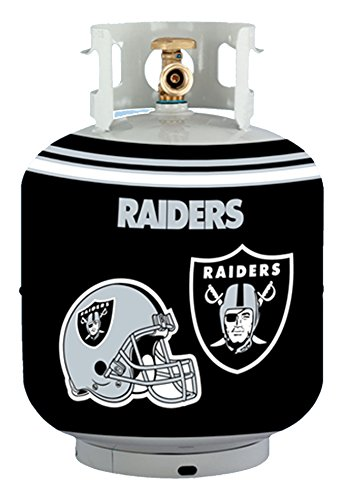 NFL Oakland Raiders Propane Tank Cover/5 Gal. Water Cooler Cover, Black (Hundred Gallon Propane Tank compare prices)