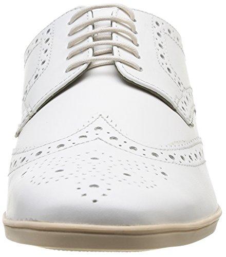 Base London Shore - Zapatos de Cordones de cuero hombre White (Softy Off White)
