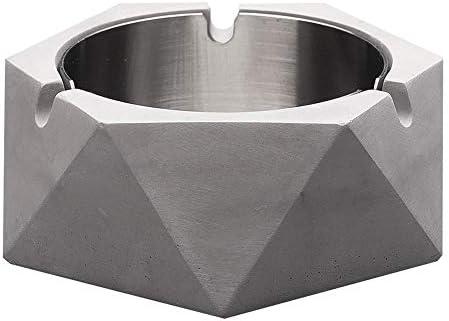 A-Z ZA Cenicero de Mesa de Acero Inoxidable de Cemento Creativo ...