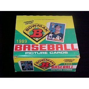 1989 Bowman Baseball Box (36 Packs) Possible Sheffield Griffey Martinez Rookies
