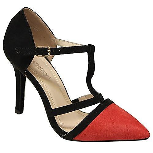 fdd84df4b Via Pinky Marge-83 Women s pointy toe buckle ankle T-strap high heel dance