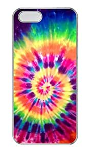 Hipster sparkly iphone 5S cases Nice Tie Dye Rainbow PC Transparent for Apple iPhone 5/5S