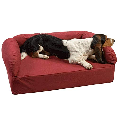 Snoozer Pet Products – Luxury Dog Sofa with Memory Foam | Large – Red For Sale