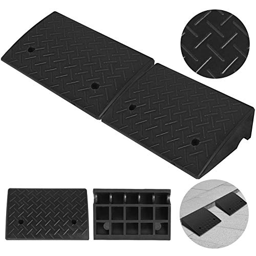 Mophorn 2Pack Rubber Curb Ramp 5.2