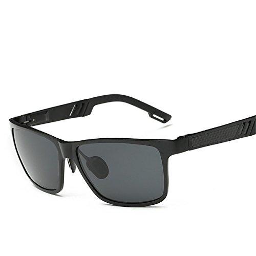 Gafas de Pesca Ash de Sol Marco Conducir Deportes Gafas KOMNY Libre Black Negro Aire al Gafas Sol polarizadas Hombres de Ceniza Frame Black Negro P7Zqd7