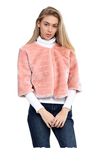 7 mujer 4 para 3 Rosa Fashion abrigo manga Abrigo Road AqgrwTA