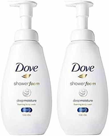 Dove Shower Foam Body Wash Deep Moisture 13.5 oz, Twin Pack
