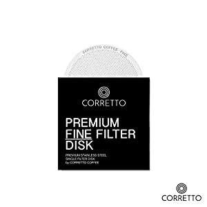 Pro AeroPress Reusable Filters - FINE, ULTRA-FINE and MESH - Premium Stainless Steel - Brewing Guide Included by Corretto
