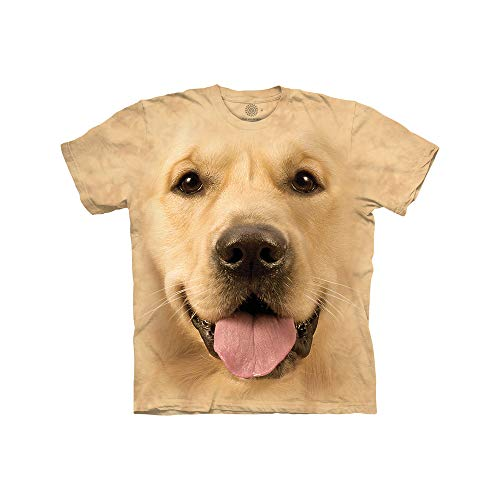 The Mountain Big Face Golden Ch Child T-Shirt, Yellow, Medium