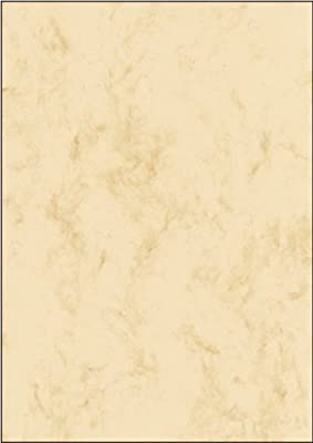SIGEL DP181 Papel de cartas, 21 x 29,7 cm, 90g/m², mármol beige ...
