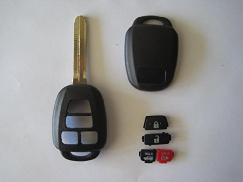 13 2013 Toyota Camry Remote Case Blank Shell Housing 4 Buttons Uncut Blade Replacement for Hyq12bdm Hyq12bel (No Electronics)