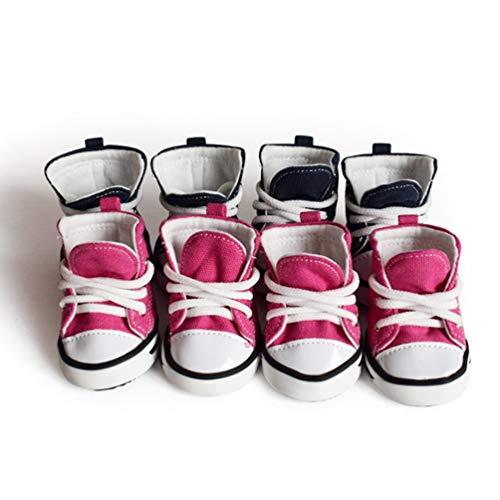 Animaux Antidérapantes Protection Pour En Bottes Toile De Confortables Doux Sportives Rouge Rose Universal Chaussures Compagnie Chien qE18nP