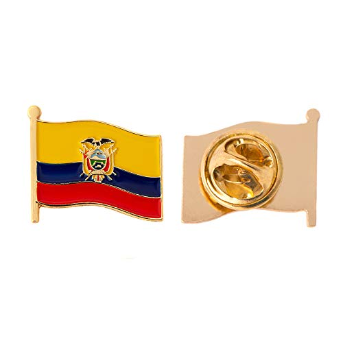 - Educador Country Flag Lapel Pin Enamel Made of Metal Souvenir Hat Men Women Patriotic Ecuadorian (Waving Flag Lapel Pin)