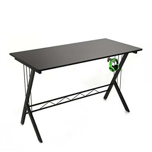 Gaming Desk Table Durable Workstation for Kids Room ,Home Office , Dorm Room , Easy Installation , Black With Headphone...