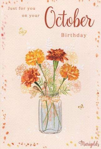 Tarjeta de cumpleaños artística para mujer de The Flower ...