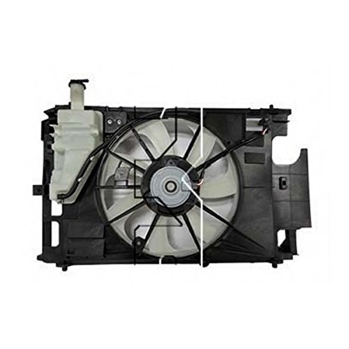 TYC 623150 Toyota Prius c Replacement Dual Radiator and Condenser Fan Assembly