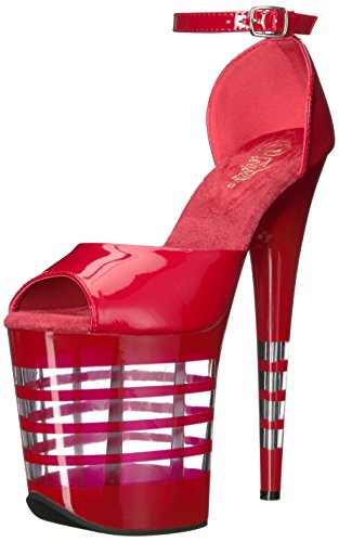 Bout Ouvert Flamingo Pleaser red 889ln Pat Femme Red qwRwEtC