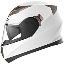 a3047738 Motorcycle Full Face Helmet DOT Approved - YEMA YM-829 Motorbike Moped Street  Bike Racing Crash Helmet with Sun Visor for