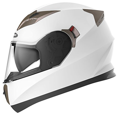 Motorcycle Full Face Helmet DOT Approved - YEMA YM-829 Motorbike Moped Street Bike Racing Crash Helmet with Sun Visor for Adult, Men and Women - - Jackets Men Street Bike