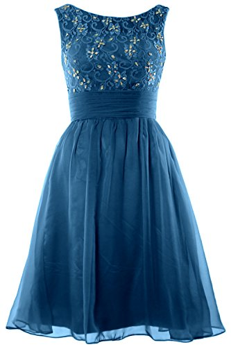 Women Homecoming Teal Dress Bridesmaid Neck Short Beading Wedding Lace Boat MACloth 8Rx4vd8